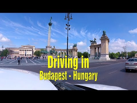 Driving In Budapest, Hungary.