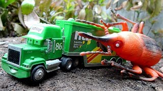Trucks, container trucks and beetles A456S - Toys for kids