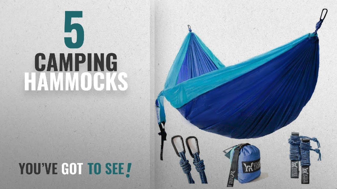 Top 10 Camping Hammocks [2018]: Winner Outfitters Double Camping Hammock -  Lightweight Nylon