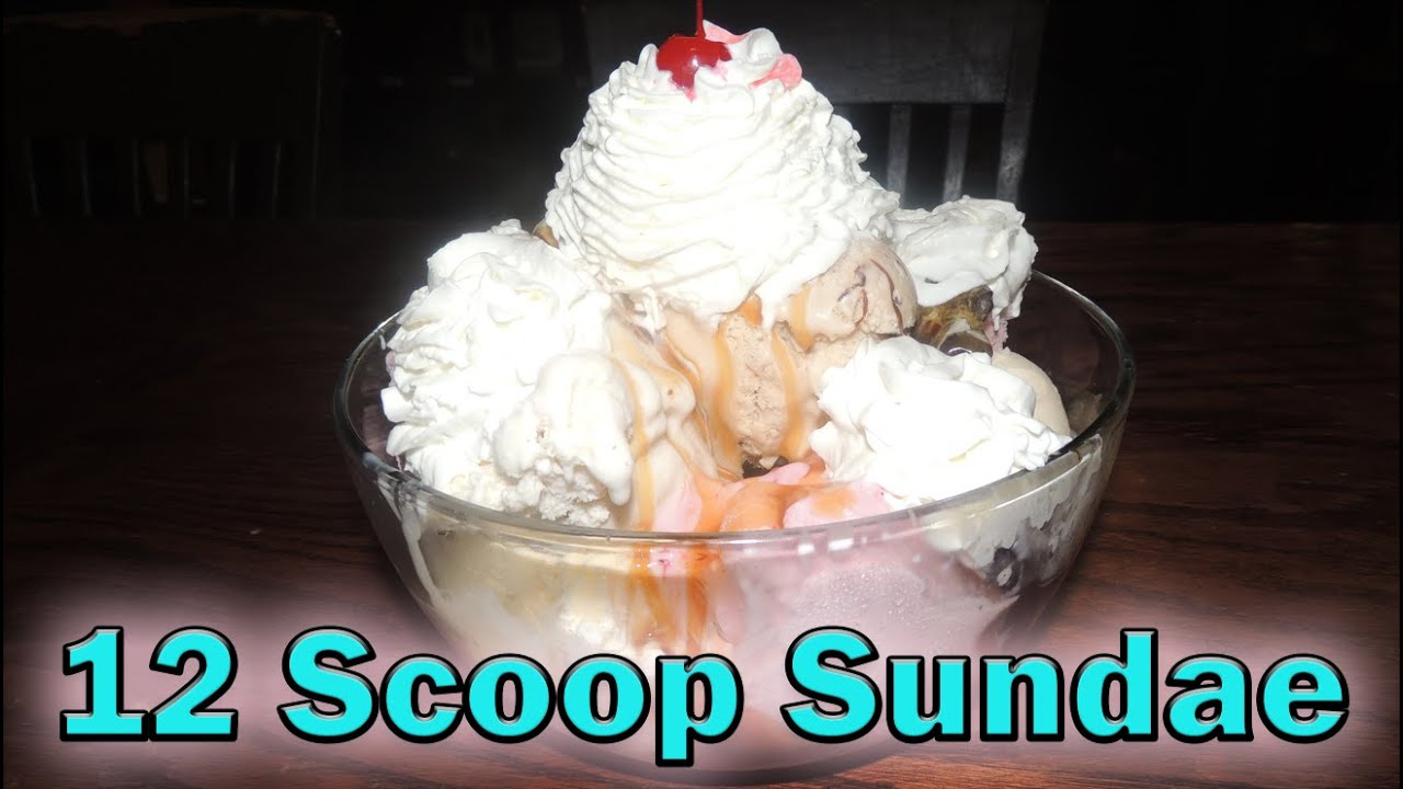 12 Scoop Overdose Ice Cream Sundae Challenge Youtube