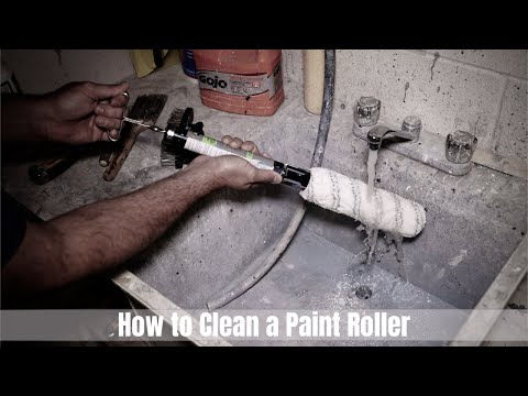How to clean a paint ROLLER... Properly (Latex Paint) - Tutorial, T3