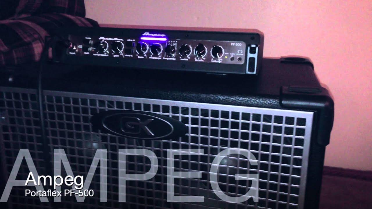 ampeg portaflex pf 500 mini review en espa ol por abel mendoza youtube