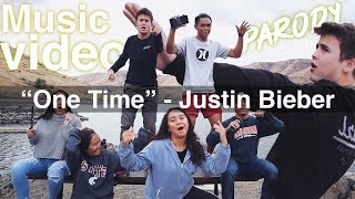 """One Time"" - Justin Bieber Music Video Parody - da dropouts"
