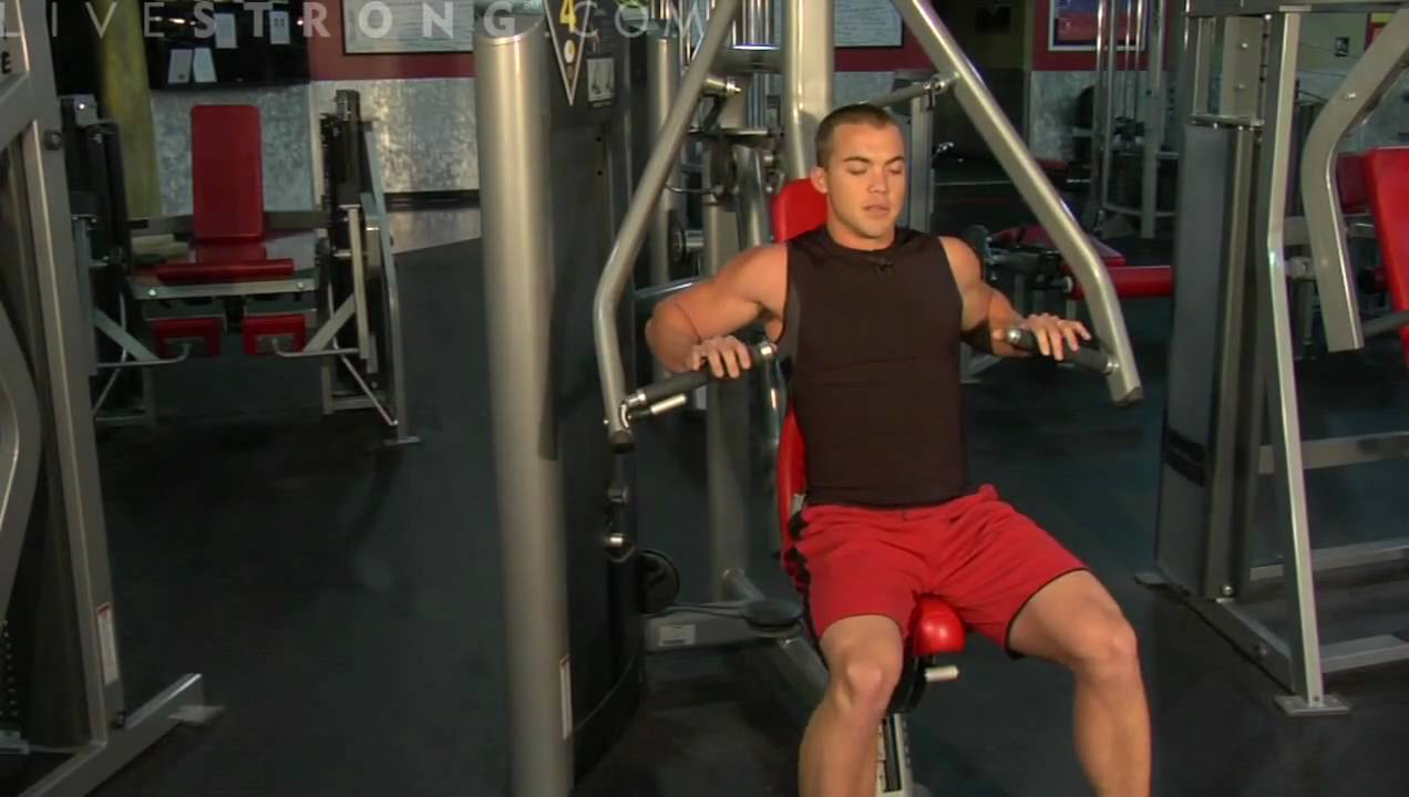 How To Use A Chest Press Machine Youtube
