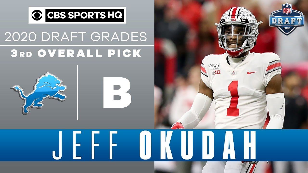 Detroit Lions select Ohio State CB Jeff Okudah with the 3rd pick in ...
