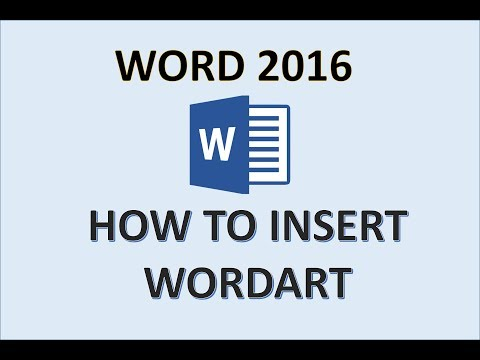 Word 2016 - WordArt Tutorial - How to Insert and Format Word Art in MS Microsoft 365 - Create Text
