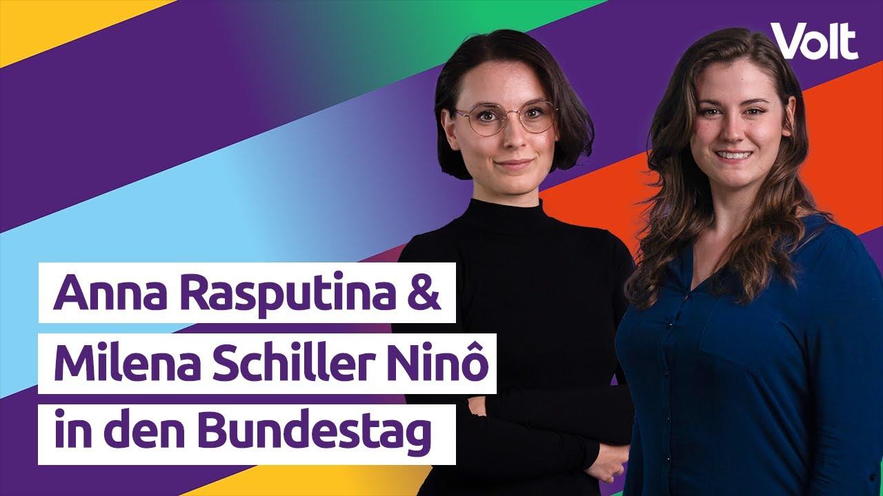 YouTube: Milena Schiller Ninô und Anna Rasputina für euch in den Bundestag