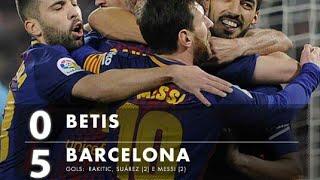 Real betis 0x5 Barcelona melhores momentos(HD)campeonato espanhol 17/18!