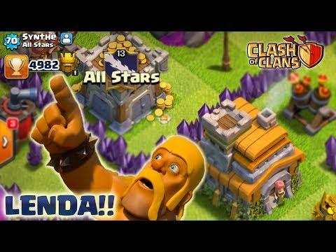 BOMBA!! NOVO RECORDE MUNDIAL CV7!!! QUASE LENDÁRIO! VEJA!! CLASH OF CLANS