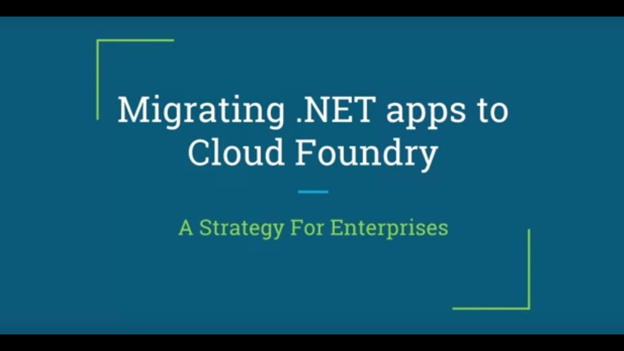 Pivotal Cloud Foundry: A First-Class Home For Your  NET