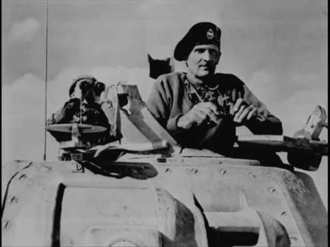A speech by Montgomery addressing the 8th army