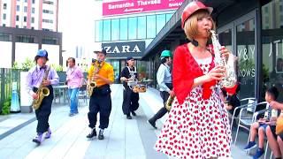 「HAPPY」HIBI★Chazz-K with 橋本恭佑(As) STREET LIVE in SORAMACHI 2017 ソラミ坂