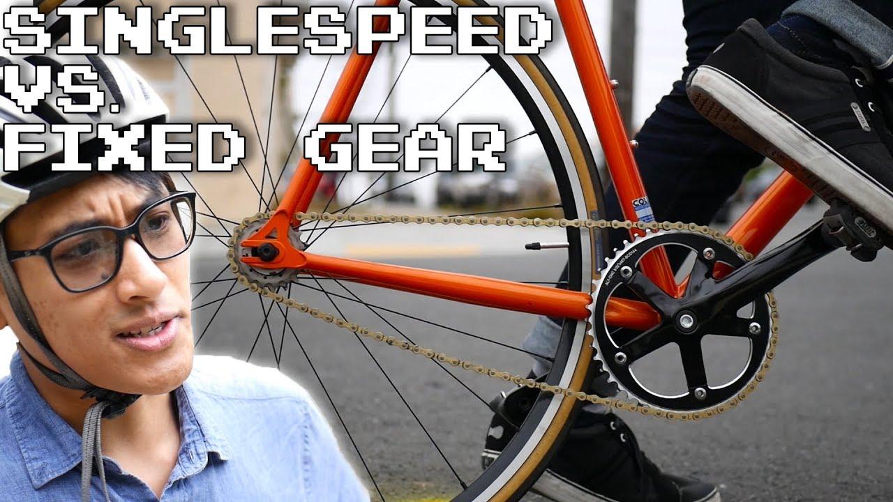 Singlespeed vs  Fixed Gear Bikes