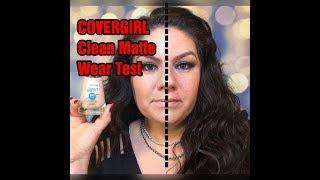 COVERGIRL CLEAN MATTE OIL CONTROL WEAR TEST