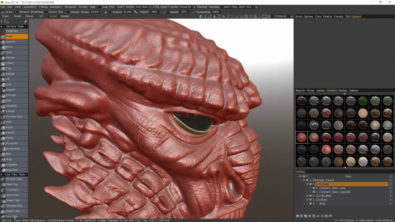 Users of Both 3DCoat and Zbrush their strengths  - 3DCoat