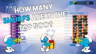 Overwatch - How many Smurfs are there in the Top 500?