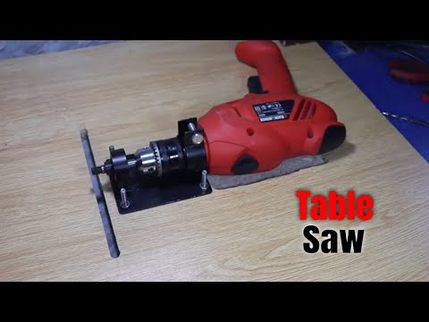 How to make a Table Saw with Drill Machine