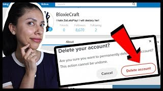 I DELETED MY HATERS ROBLOX ACCOUNT! - ROBLOX