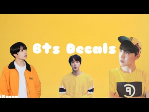 Bts Decal Ids Roblox Youtube