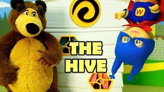 EPISODIO 1  MASHA E ORSO - Nuova puntata , la casa delle api ,giochi per bambini, visita da Buzzbee