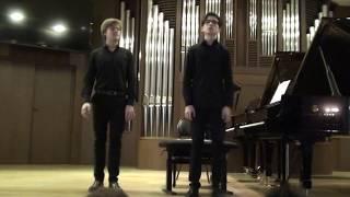 Скачать Григ Норвежские танцы для ф но в 4 руки Алихан Кундухов и Алексей Посикера