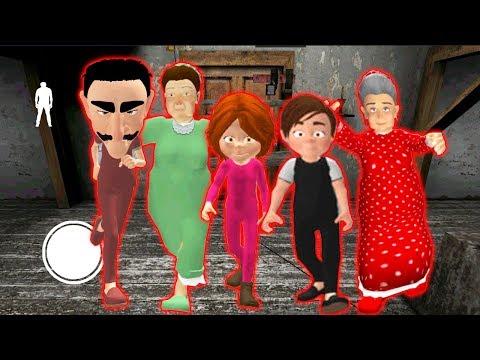 СЕМЬЯ ЗЛЫЕ СОСЕДИ ГРЕННИ - Neighbor's Family Secret Granny Escape