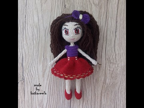 Вязание куклы крючком с описанием и схемами