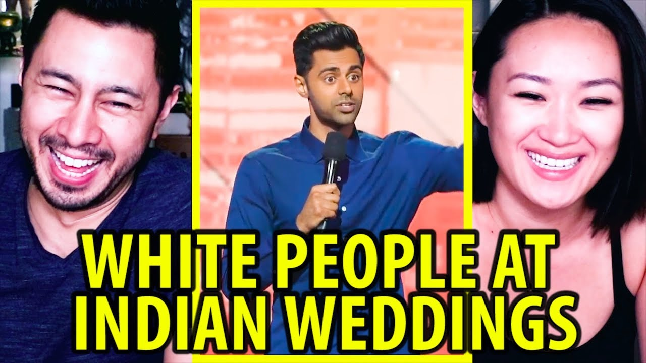 WHITE PEOPLE AT INDIAN WEDDINGS | Stand Up Comedy | Reaction by Jaby & Danni!