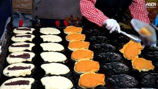 Japanese Street Food - Taiyaki, Pancakes, Snacks, Dumplings, Grilled Fish...