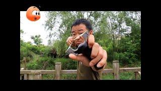 又是一款超高精度弹弓,数十米外专打人饭碗一脸懵 Chinese high-accuracy slingshot 2018