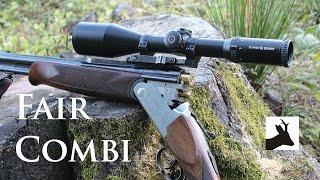 Fair combination gun with Schmidt and Bender riflescope. Kniejówka.