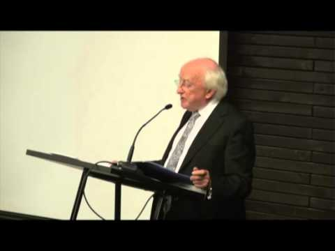 President Higgins at University Diego Portales, Santiago, Chile 4th October 2012
