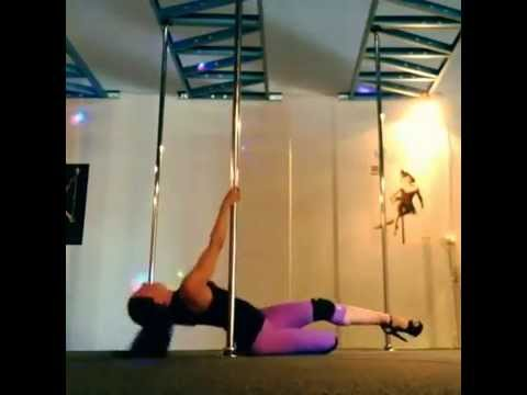 VNess Smith Sexy Heels Pole Routine | Fantasy Fitness and Dance Studio