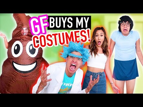 GIRLFRIEND BUYS MY HALLOWEEN COSTUMES! | 2017