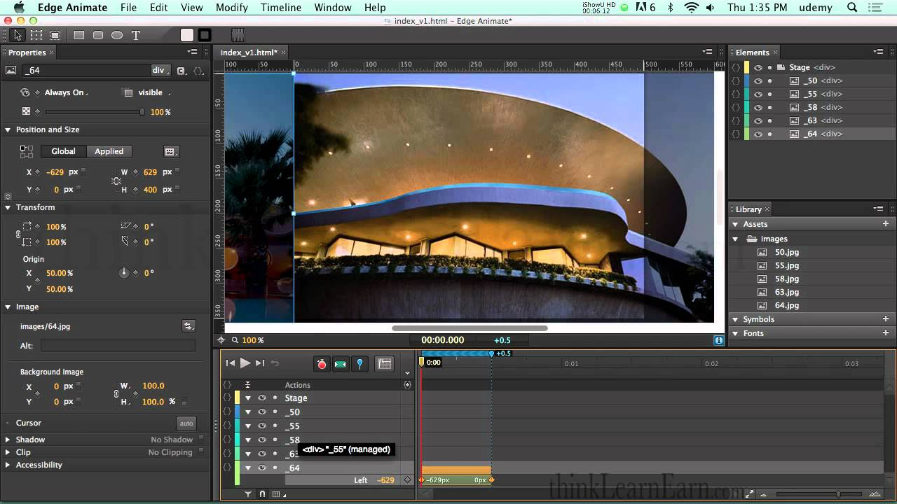 Adobe Edge Animate Preview 7 How To Make A Slide Show Or Web Banner Ad With  A Javascript Timer  Youtube