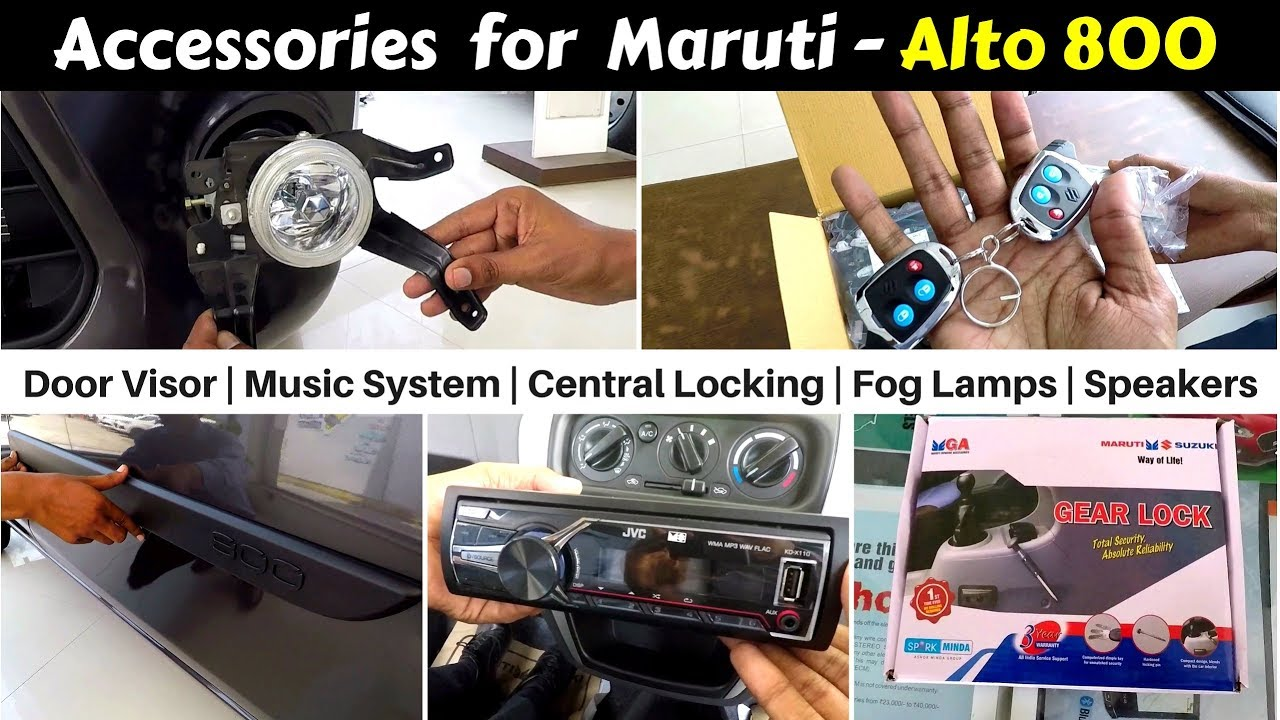 Accessories For Alto 800 With Prices Hindi Ujjwal Saxena Youtube