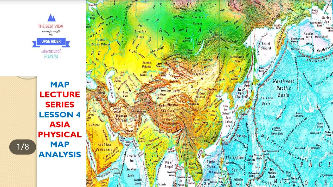 Complete Map Of Asia.Asia Physical Map Lesson 04 Complete Geography Through Maps