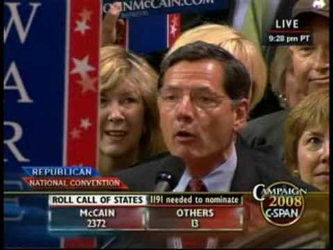 Sen. Barrasso Delivers Wyoming's Delegates to John McCain
