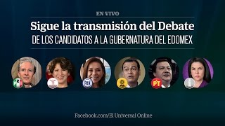Debate de los candidatos a la Gubernatura del Edomex