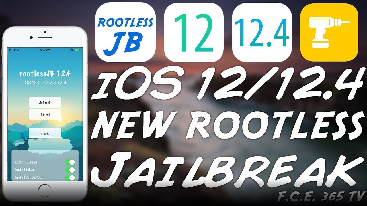 iOS 12 4 / 12 2 / 12 0 New RootlessJB JAILBREAK RELEASED