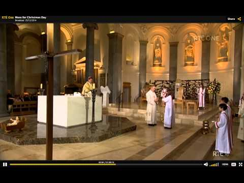 Mass at St. Mel's Cathedral - Christmas Day 2014 - Longford Ireland