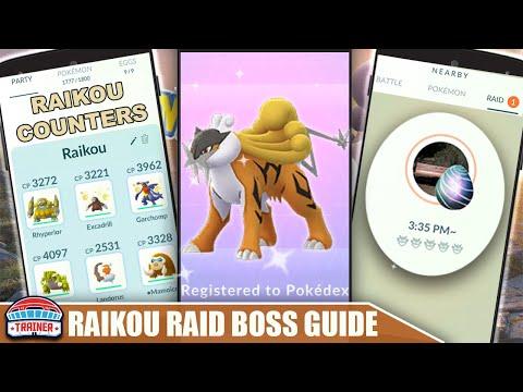 THE SHINY *RAIKOU* COUNTER GUIDE! 100 IVs, MOVESET & WEAKNESS - ELECTRIC RAID BOSS   Pokémon Go