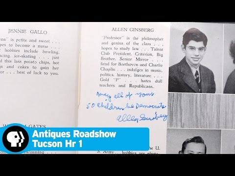 ANTIQUES ROADSHOW | 1943 Allen Ginsberg-signed Yearbook | Tucson Hr 1 Preview | PBS