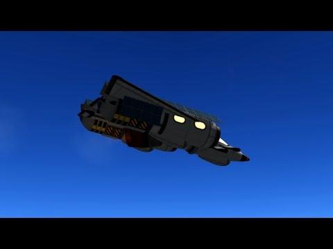 KSP - Improved 1-Tilt-Engine VTOL Testflight