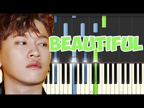 Beautiful- Crush (Piano Tutorial Synthesia)