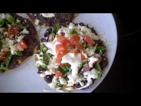 Quick & Easy Dinner: Refried Bean & Cheese Tostadas