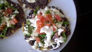 Refried Bean & Cheese Tostadas | Mexican Food Recipe | Quick & Easy Dinner | Bea Gunn