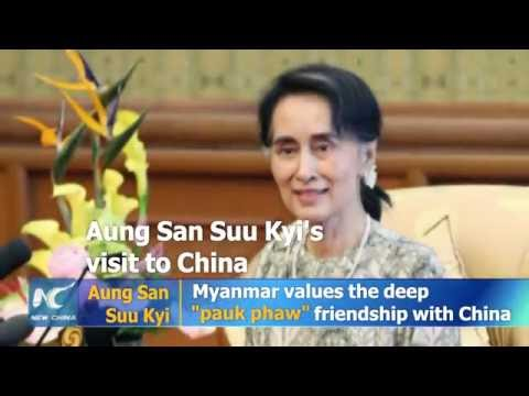 Aung San Suu Kyi visits China