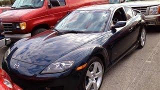 2004 Mazda RX-8 1.3L Rotary Engine Start Up, Quick Tour & Rev With Exhaust View - 84K (7500RPM Rev)