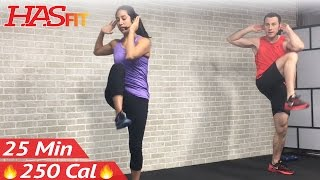 25 Min Low Impact Cardio Workout for Beginners - HIIT Beginner Workout Routine at Home for Women Men